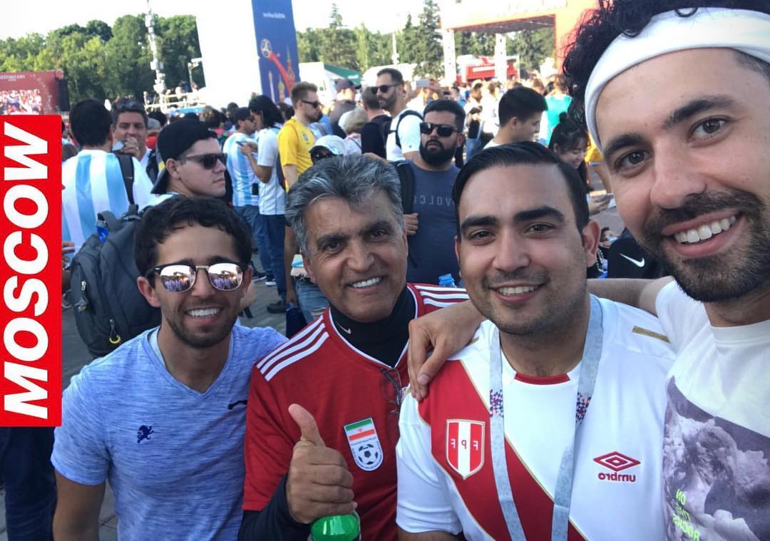 June 16, 2018: Moscow ️ I wore Peru to Honor/Represent the greatest guy a man could be proud to know. My friend David Torrence past away last year and he was a soccer fan ;( @david_torrence missed but never forgotten