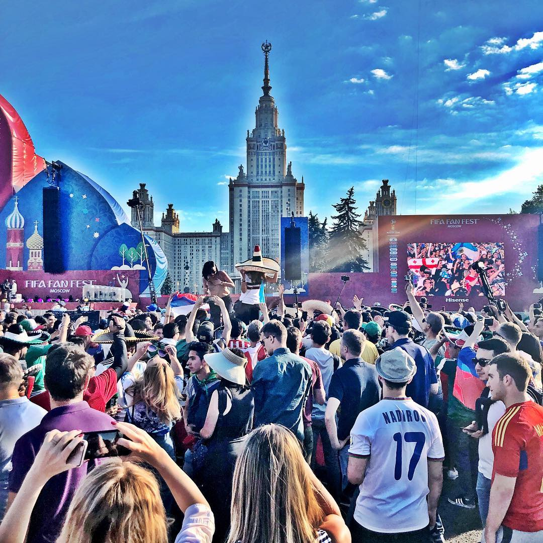 June 16, 2018: MOSCOW FANFEST to watch Argentina v Iceland & Peru vs Denmark
