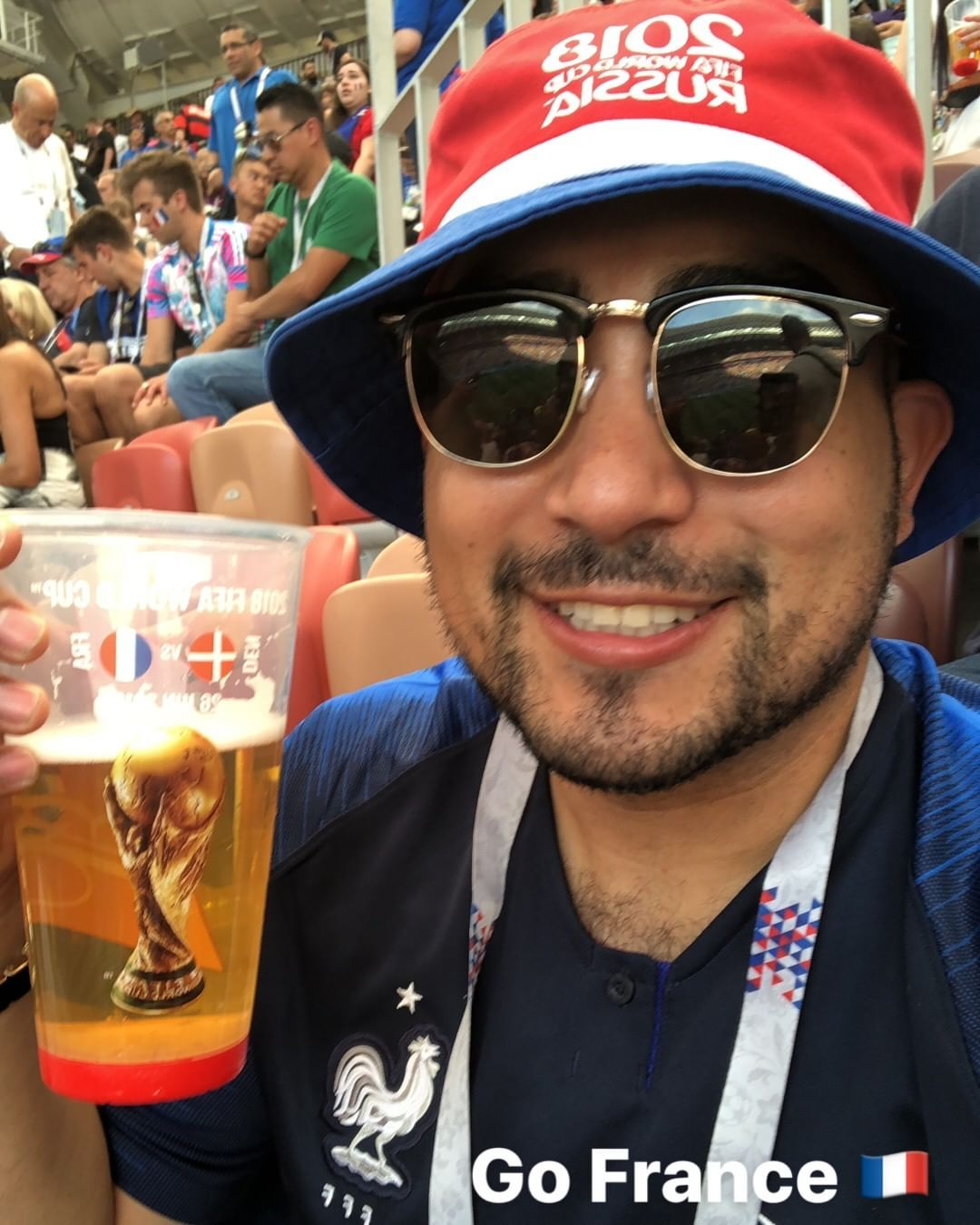 Cheezin for Sheezin! Denmark vs France...not sure if it was the beer putting a smile on my face or the game but i do love me some soccer :)