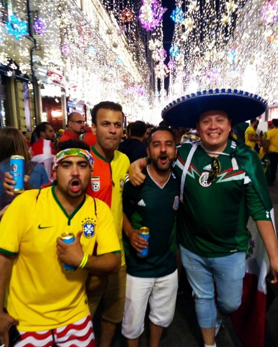 Something about them World Cups, they get me riled up! Nikolskaya Street,  one of the best places to hang in Moscow! We basically found a guy with a Sombrero and celebrated Mexicos win vs Germany!