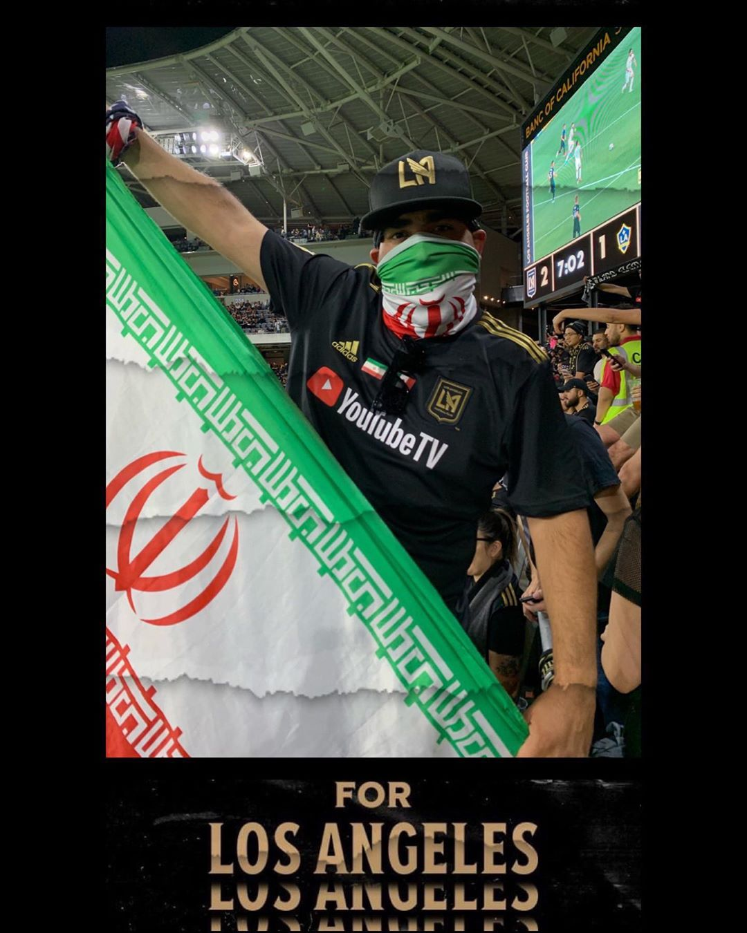 History ! Los Angeles! LA, You Keep giving me reasons to Love You @lafc 🇮🇷 🇲🇽 @lafc3252 @lafckrew
