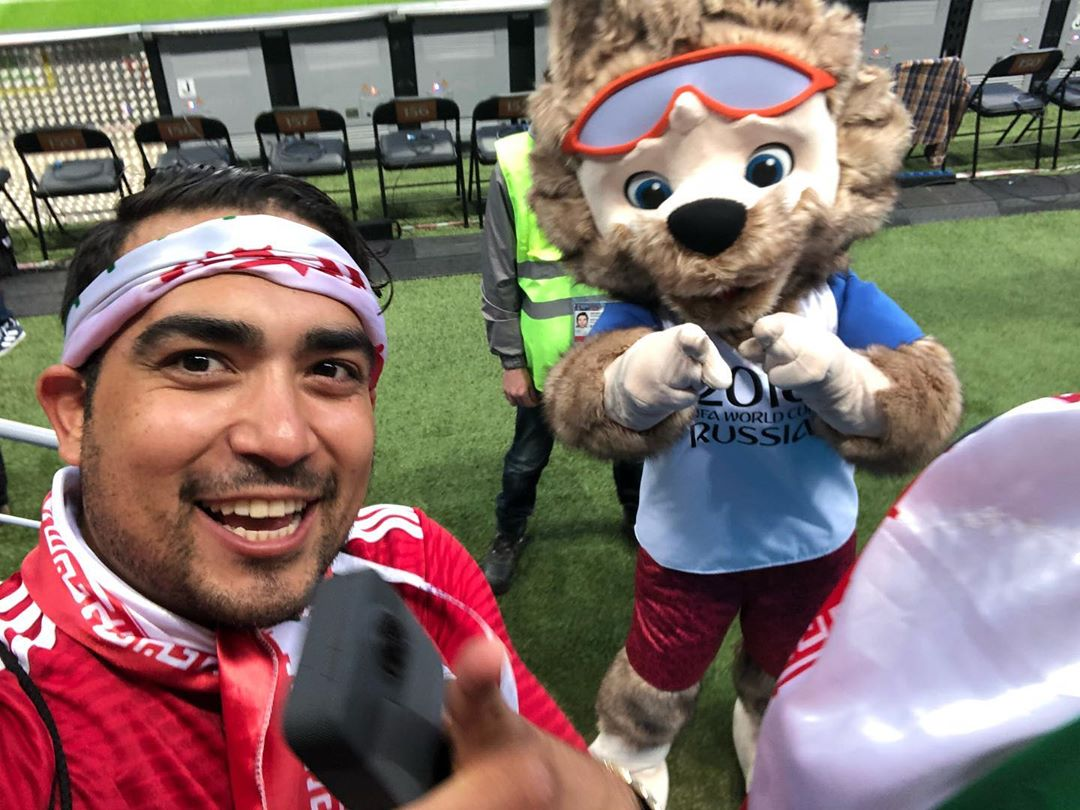 Zabivaka and Amir Goes... @ 🇮🇷 IRAN V  SPAIN...One of many but this one is def in my top 3 pictures I have from that epic event they call the
