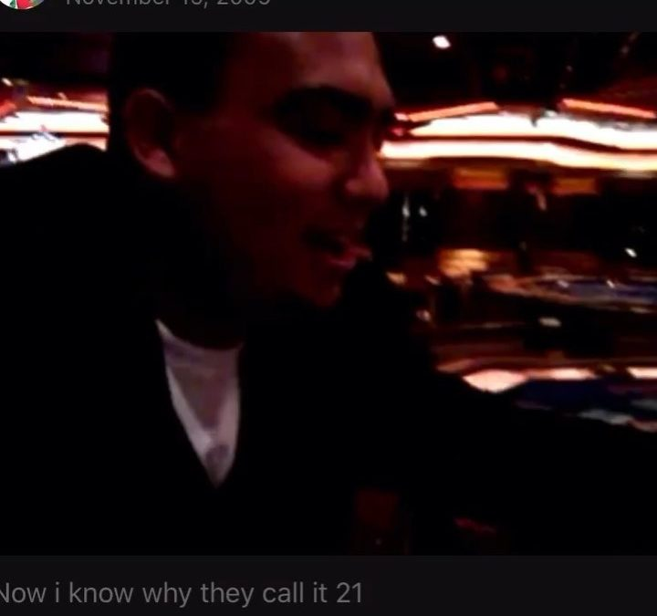 From the Vault! Nov 15, 2009! Video Cred:  , SOuND ON…I love to go on cruises and I went on this one with my entire Mexican and iranian family! I had 20 and she was showing 6, and bam turn it over 5,next card 10! Haha camera phones sucked back then! Second takeaway from that cruise, I ended up jumping in the pool the last night of the cruise and had soaking wet pants went we were deboarding lol! They take your luggage the night before back then so it was a lesson learned!