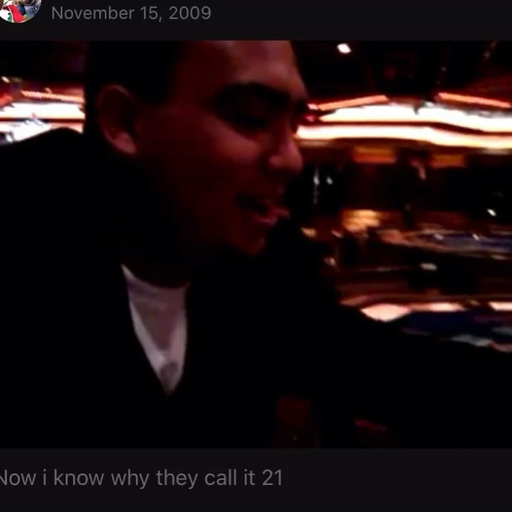 From the Vault! Nov 15, 2009! Video Cred: @i_dyn , SOuND ON...I love to go on cruises and I went on this one with my entire Mexican and iranian family! I had 20 and she was showing 6, and bam turn it over 5,next card 10! Haha camera phones sucked back then! Second takeaway from that cruise, I ended up jumping in the pool the last night of the cruise and had soaking wet pants went we were deboarding lol! They take your luggage the night before back then so it was a lesson learned!