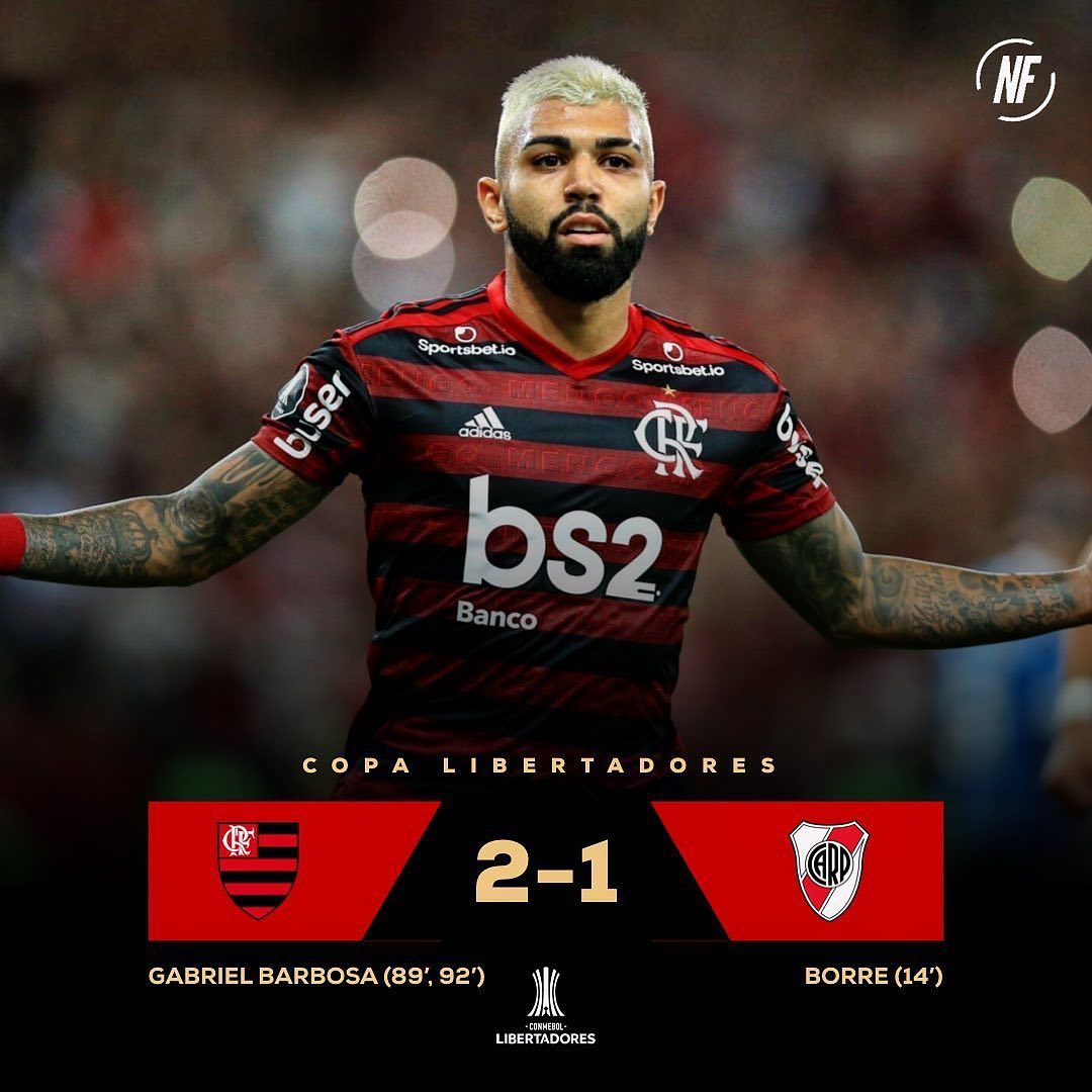 Gonna Tell My Kids this was Me, I scored 2 last minute goals to win the copa libertadores for Flamengo, the fame and addolation was too much ! They even dressed Jesus in the Flamengo Jersey! So I changed my name and now reside in Los Angeles California  retired and just being a fan, ok no but what a game huh huuuh! I'm Happy for all my Brazilian Friends