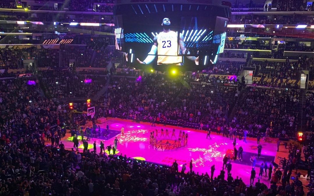 First Game of 2020 for me! Woo hoo! Go Lakers . . . . .