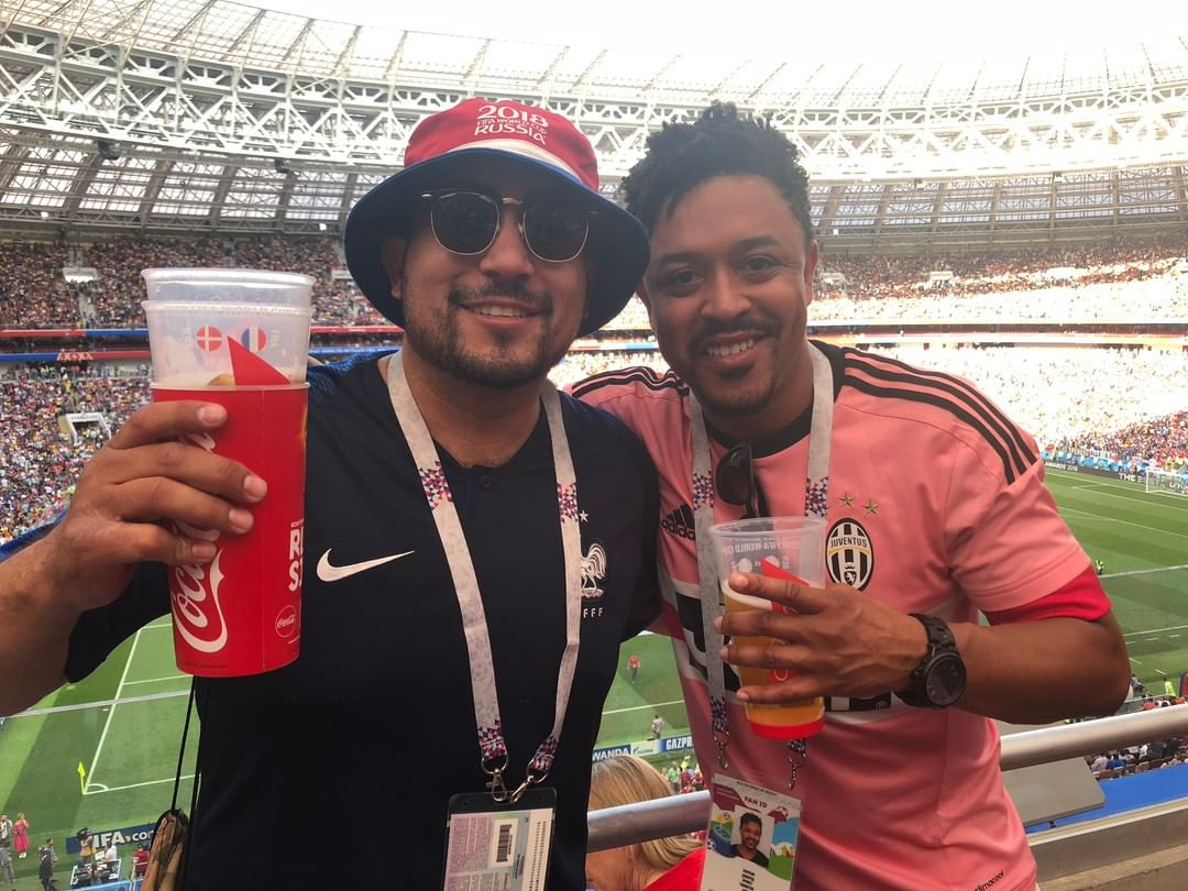 Friends, we all have them, FRIENDS! @jayswagoo I met Jared for the first time in Las Vegas, two weeks later we met up at halftime of the 2014 World Cup in Recife Brazil at the USA vs. Germany Game! Such an awesome game to go to as a Citizen of the US of A! 4 years Later, World Cup in Russia 2018, we met up in Moscow to Last minute buy tickets to watch France vs. Denmark on my 2nd to last day before I left home! Here is our proof! lol Cheers! Find yourself a friend like Jared, when you share a passion for sports, your friendship will go far and wide. i know i'll see him in Qatar as well :)