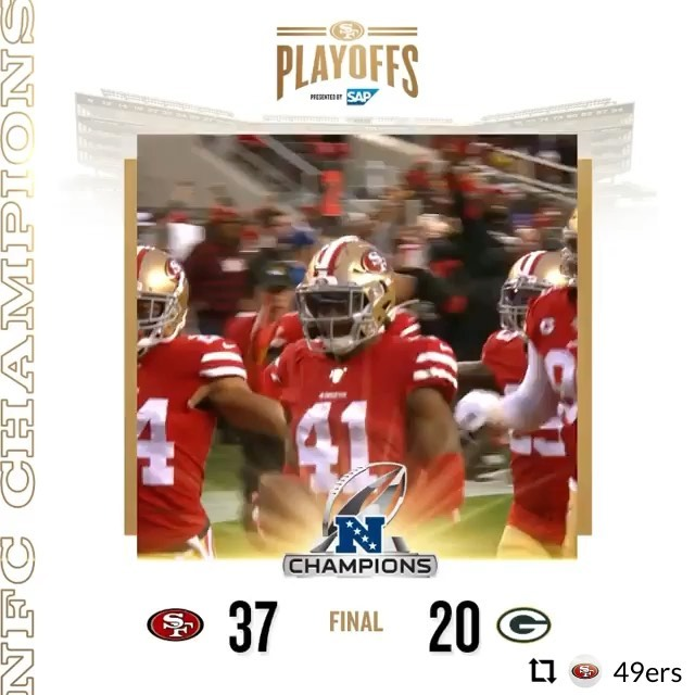 Wowaweewow!!! 49ers are SuperBowl Bound once again!!! One more win to Glory! . . . . .