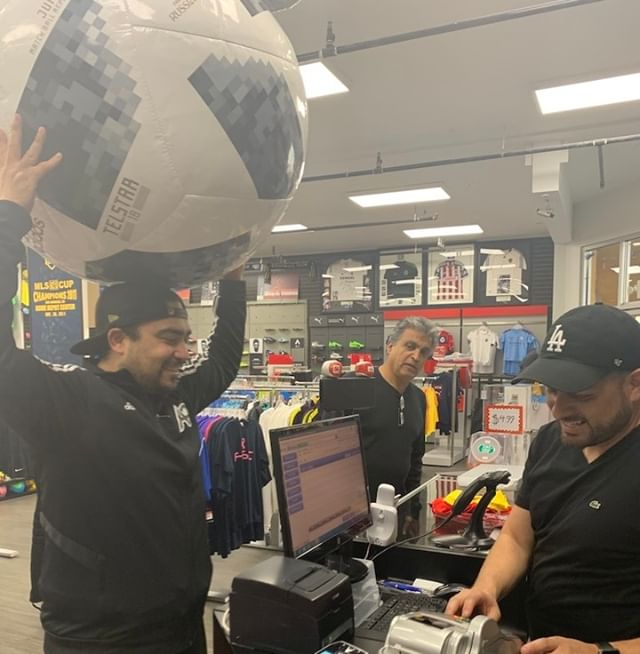 "My Dad was surprised when I said I was going to ""Soccer Stores"" to buy a Soccer ball instead of cleats like him…I told him this soccer ball will bring Happiness to many including myself. He was even more surprised when I walked up to  to check me out so I can be on my merry way haha! Thank you  for creating such a gift that keeps on giving . . . . ."