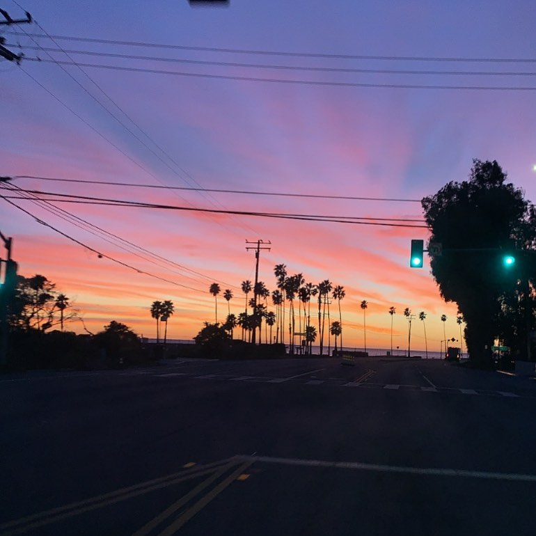 Sunsets will never get old! I was lucky enough to watch the sunset from start to finish ...watching this beauty of a color while driving down PAcific Coast Highway Last night...what a view! I love living in LA, if you haven't been here then you need to come...Biggie was semi right, #Cali, Or live biggie or live . . . .