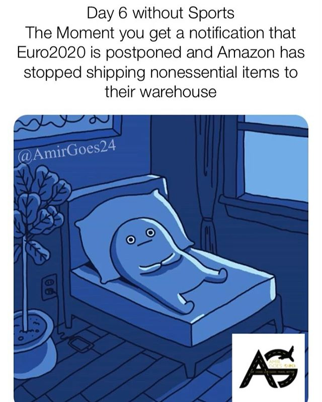Amazon is suspending nonessential items to their warehouse and will still Ship to your home so relax ok....but If u see me in the stores don't stab me please thanks! DM me if u have a weapon to sell to Thanks! . . . . . #