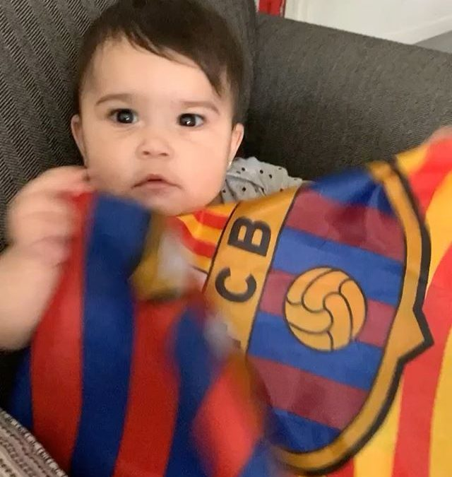 New Barcelona fan on the way  ⁣ .⁣ .⁣ .⁣ .⁣ .⁣