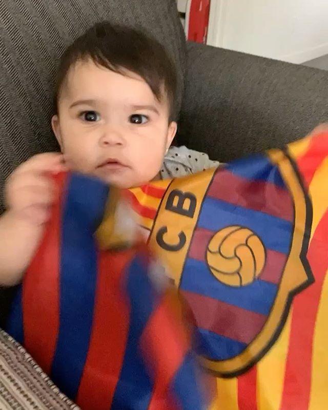 New Barcelona fan on the way @fcbarcelona  . . . . .