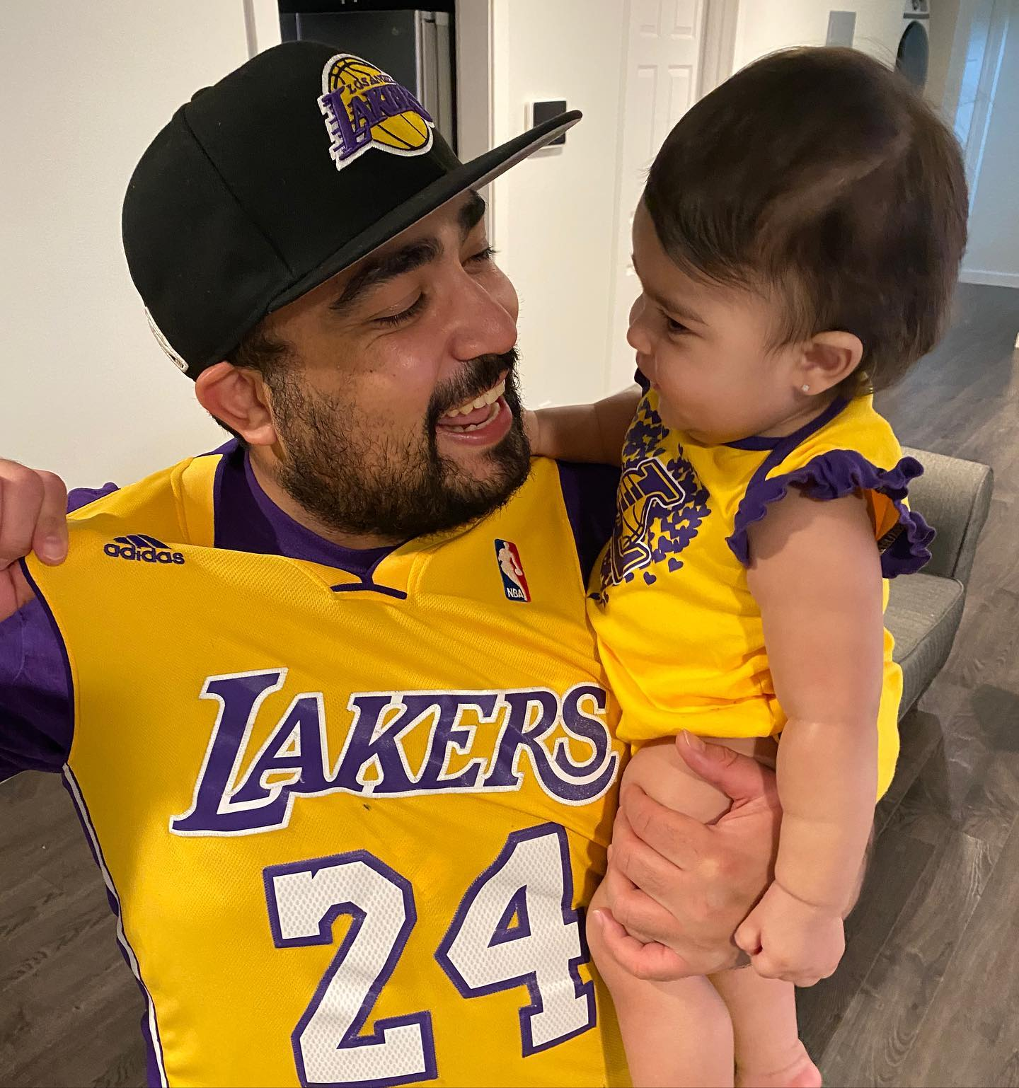 I said to Mila, Lakers in 5!   Let's go Lakers! Let's get this W tonight  . . . . .