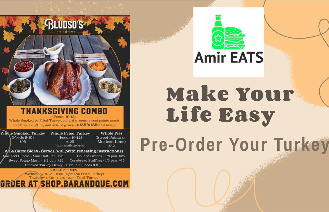"""I'm excited to share with everyone my Premier Episode of my new Series """"Amir EATS"""", now live on my YouTube page MahboobTubeTV (link in my bio) just click this pic and it will redirect you to the video! Amir EATS will have episodes of various restaurants around Los Angeles and highlighting ways to make a sports fan life easier not hungrier haha! Hope you like it!   I ordered a fried turkey from @bludsosbbq for Thanksgiving! Check it out!  . . . . ."""