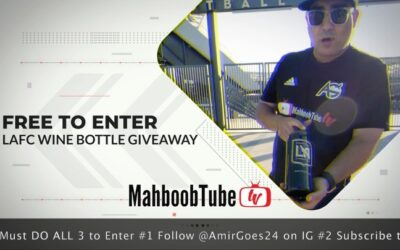 Only one day left! Now that I don't drink, come and win my wine! Presented by  , Engraved LAFC wine bottle! FREE to Enter ! You Must do ALL 3 to be entered! Drawing will be right here on my IG live tomorrow Nov 21st at 1:20pm (1)Follow AmirGoes24 (2) Subscribe to MahboobTubeTV on YouTube (linkinBio) (3) Go to AmirGoes.com, click on the exclusive offers tab, and fill out the form! free and easy! ⁣ .⁣ .⁣ .⁣ .⁣ .⁣