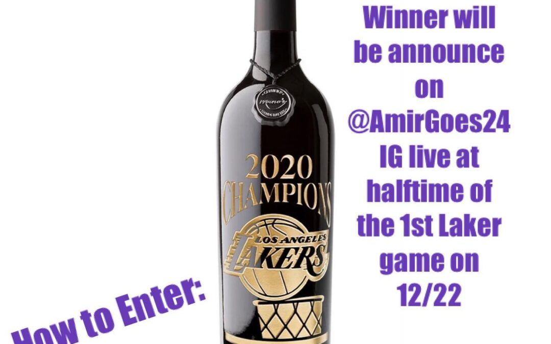 ⁣Happy 14th my Birthdayversary and our monthly Giveaway is announced! Every 14th of the month! In order to celebrate the Championship this one is for my Lakers Peoples! What a year it's been! So I'll be giving away a  Lakers Edition 2020 Championship bottle! Hers how to enter: (1) Subscribe to MahboobTubeTV on YouTube (2) Tag 2 people on this Post (3) Follow AmirGoes24 on IG! Do all 3 and you are entered! Drawing will be at halftime of the Lakers 1st season Game , 12/22, right here on my IG live .⁣ .⁣ .⁣ .⁣ .⁣