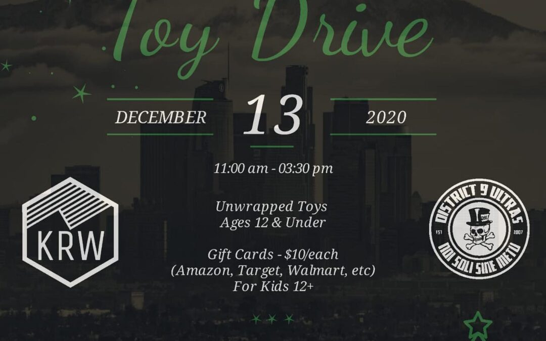 Tis the Season! The  (the supporter group i rep) and the  are having a Drive Thru TOY Drive! Along with  foundation, Please Bring an unwrapped toy to make someone else's Christmas extra special! Tomorrow in the IE and Sunday in No Ho! Hope we all can join in on the Christmas Cheer  . . . . . #lafçok #lafcdconfinéealamaison